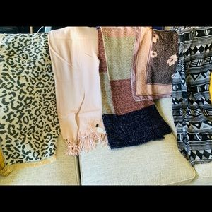 SCARVES 5 pieces- 2H&M and 3 unbranded
